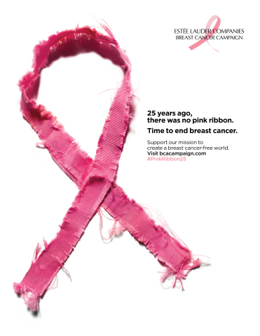 The 2017 Estée Lauder Companies' Breast Cancer Campaign ad visual (Graphic: Business Wire)