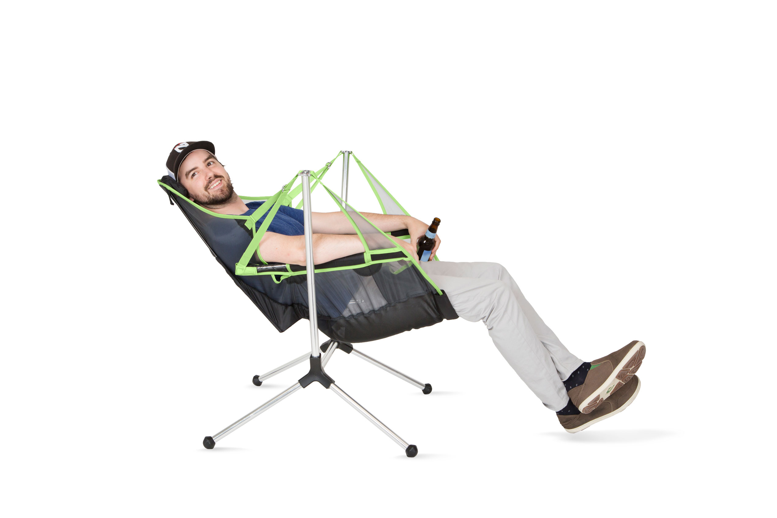 The First Ever Swinging And Reclining Camp Chair Hits The