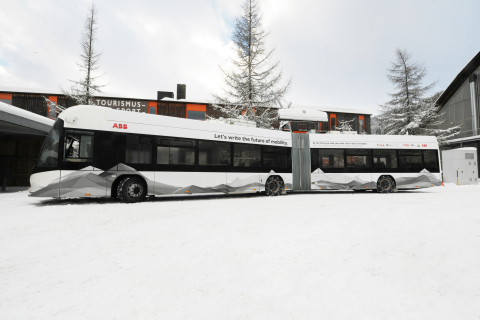 ABB flash-charging station in Davos (Photo: Business Wire)