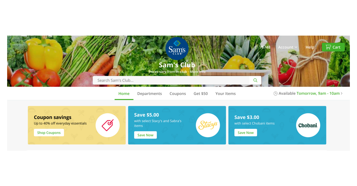 Sam's Club partners with Instacart