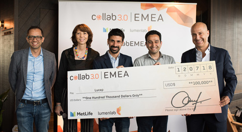 (L-R) Zia Zaman, LumenLab CEO and Chief Innovation Officer of MetLife, Asia; Françoise Lamotte, Head ...