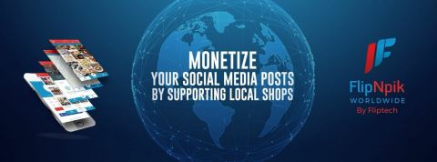 Monetize your social media posts by supporting local shops (Graphic: Business Wire)