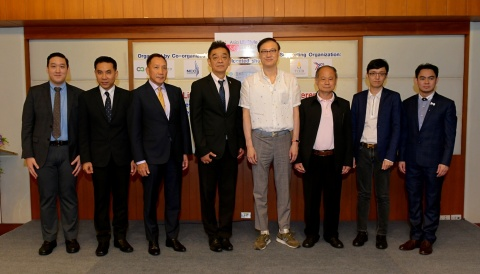 From Left to Right: Mr. Ajinveat Vhongthong, Senior Project Manager, N.C.C. Exhibition Organizer Co. ...