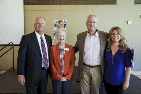 Left to right: Wes Morgan, retired LPD officer, Carol Leister, MADD National Board Member, Dave Ches ...