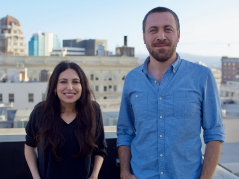 Co-founders May Habib and Waseem Alshikh (Photo: Business Wire)