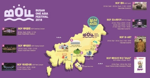 Asia's largest Hallyu festival the Busan One Asia Festival 2018 (BOF 2018) holds in Busan from Oct.  ...