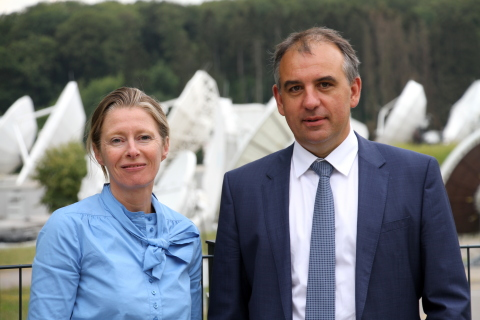 Corinne Mailles Deputy General Manager of Telespazio France & Patrick Biewer, CEO of GovSat (Photo:  ...