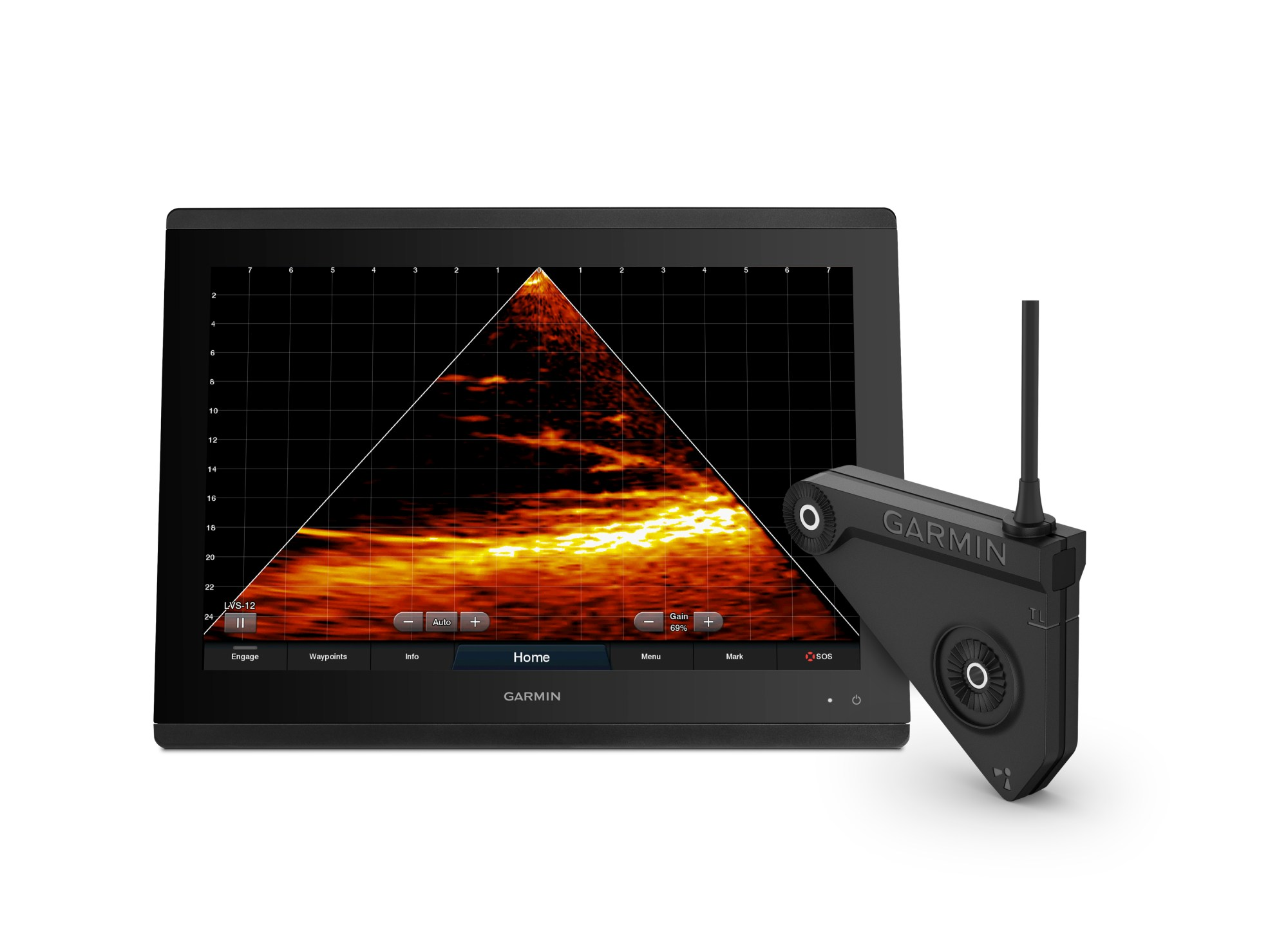 hight resolution of garmin brings panoptix livescope live scanning sonar to even more anglers with the new single array lvs12 transducer business wire