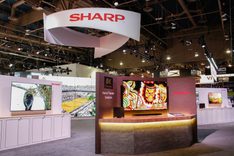 Sharp's expansive booth at CES 2019 represents the company's first full-scale CES exhibit in over fo ...