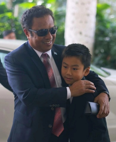 International Child Celebrity, Emiliano Cyrus aged 10 appointed as the Republic of Palau's Honorary  ...