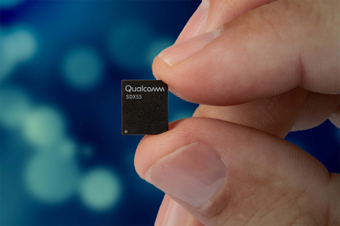 The Qualcomm Snapdragon X55 5G modem (Photo: Business Wire)