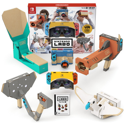 Available at a suggested retail price of $79.99, the complete Nintendo Labo: VR Kit, now available e ...