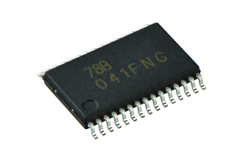 """Toshiba: Three-phase brushless motor sine wave controller IC """"TC78B041FNG"""" housed in an SSOP30 packa ..."""
