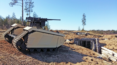 Milrem Robotics and ST Engineering demonstrated a beyond visual line of sight (BVLOS) combat UGV arm ...