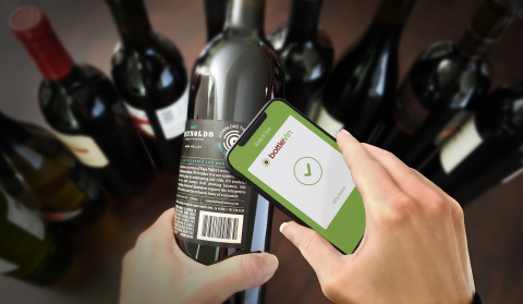 BottleVin's smart bottle platform utilizes a mix of NFC, QR and image recognition technologies, allowing vintners to connect with customers with a simple tap or scan of a smartphone.(Photo: Business Wire)