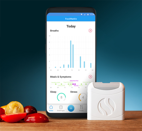 FoodMarble AIRE device and companion app (Photo: Business Wire)