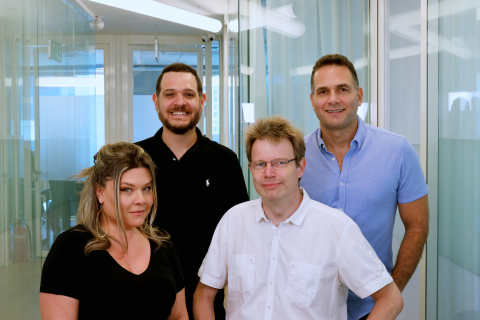 Syte founders. From top left clockwise: Idan Pinto, COO; Ofer Fryman, CEO; Dr. Helge Voss, CTO; Lihi Pinto Fryman, CMO. (Photo: Business Wire)