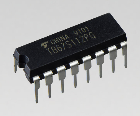 """Toshiba: a dual-channel solenoid driver IC """"TB67S112PG"""" that achieves high-voltage and low ON resistance drive. (Photo: Business Wire)"""