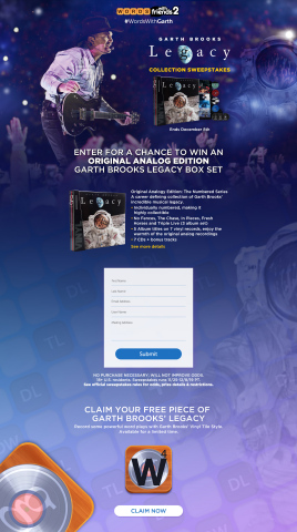 Garth Brooks Returns to Words With Friends With Custom, Vinyl Tile Style for Fans (Photo: Business Wire)