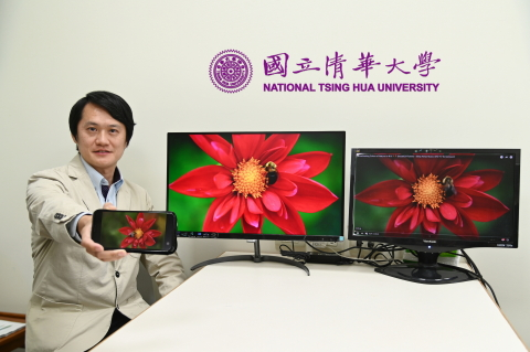 A research team led by Professor Hsueh-Shih Chen of NTHU has recently announced that they have developed a new quantum dot material which is more stable and provides more realistic color. (Photo: National Tsing Hua University)