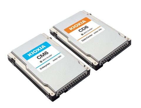 KIOXIA CM6, CD6 Series PCIe® 4.0 NVMe™ SSDs (Photo: Business Wire)
