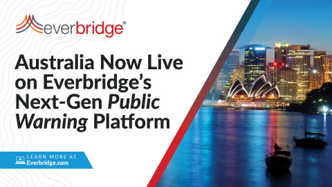 Australia Successfully Goes Live With Everbridge Public Warning Platform Countrywide (Graphic: Business Wire)