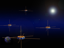 MMS Spacecraft in formation