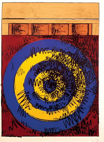 """Jasper Johns, """"Target With Four Faces"""" (click on image for more information)"""