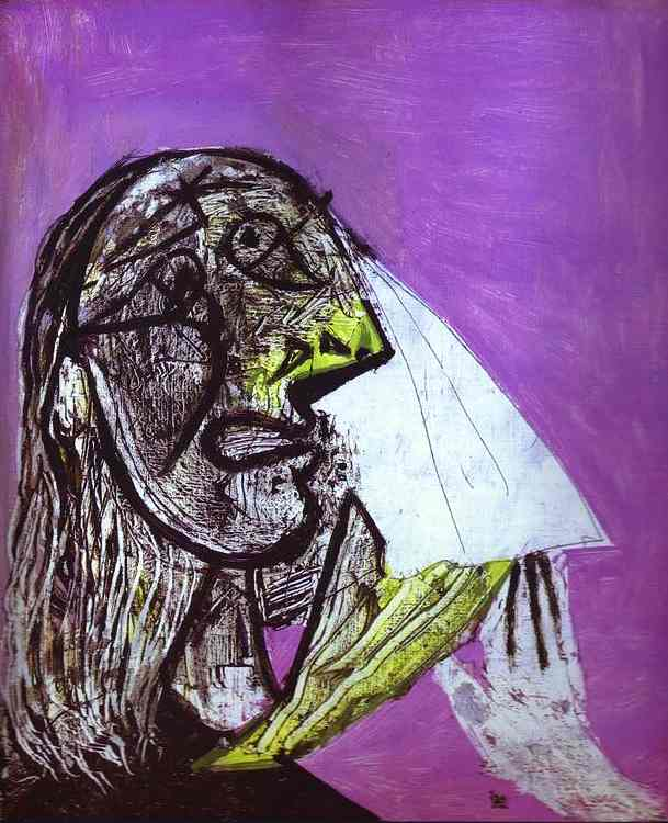 Pablo Picasso. A Woman in Tears. 1937. Oil on canvas.