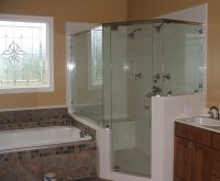 Shower Doors: Mirrored Shower Door