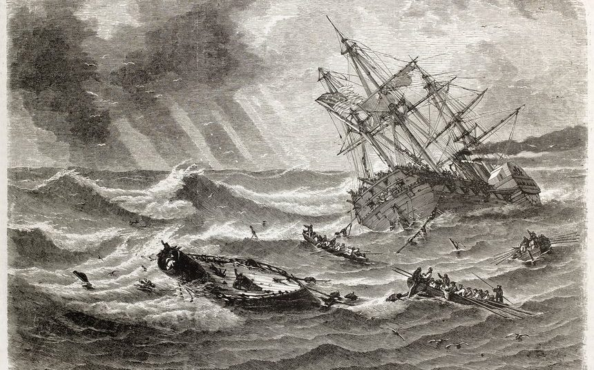 Monitor shipwreck