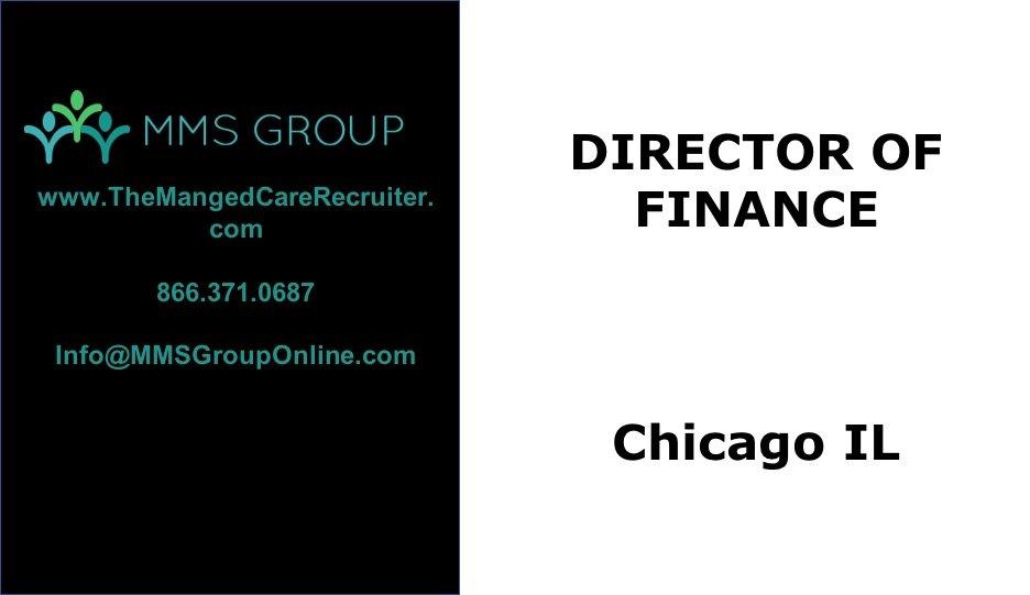 Director of Finance Job – Chicago CT-3901