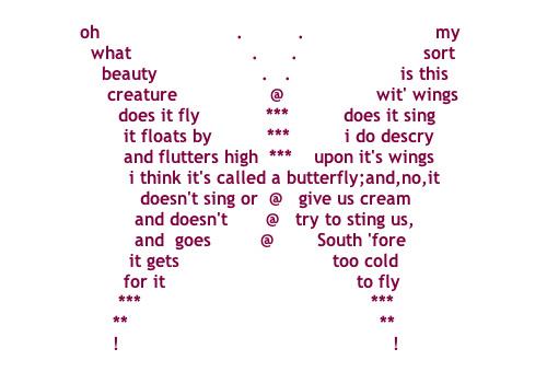 Famous Concrete Poems