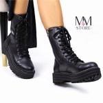 Coturno Feminino Preto Básico com Cadarço e Zíper na Lateral Coleção Outono Inverno 2021 Loja Online MM Store Shoes