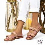 Sandália Rasteira Feminina de Tranças Bege Loja de Calçados Online – MM Store Shoes Os Melhores Preços e Modelos (1)