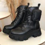coturno feminino de bolsinho preto loja online mm store shoes