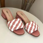 Tamanco Feminino Rose com Branco Salto bloco Baico Conforty Nova Coleção Verão Loja Online MM Store Shoes (16)