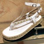 Papete Feminina Branca com detalhe em Corrente Nova Coleção Primavera Verão Loja Online MM Store Shoes (30)