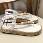 Papete Feminina Branca com detalhe em Corrente Nova Coleção Primavera Verão Loja Online MM Store Shoes (32)