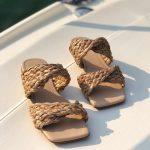 Rasteira Feminina com Detalhes em Palha Bico Quadrado Coleção Primavera Verão Moda e Tendência em Calçados Femininos Loja Online MM Store Shoes (19)