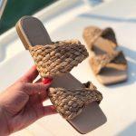 Rasteira Feminina com Detalhes em Palha Bico Quadrado Coleção Primavera Verão Moda e Tendência em Calçados Femininos Loja Online MM Store Shoes (27)