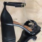 Sandália Feminina Preta de Salto Médio bloco com Detalhe de Trança confortavel Nova Coleção Primavera Verão Loja Online MM Store Shoes (28)