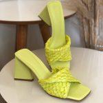 Tamanco Feminino Lemon De salto Estilo Triangulo e Detalhes de Palaha Coleção Primavera Verão Moda e Tendência em Calçados Femininos Loja Online MM Store Shoes (9)