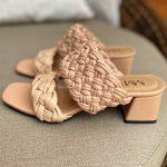 Tamanco Feminino Bege de Salto Bloco Baixo e Detalhes em Tranças Tendência da Moda Conforto e Estilo Loja Online MM Store Shoes (5)