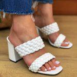 Tamanco Feminino Branco de Salto Bloco e Detalhes em Tranças Tendencia da Moda em Sapatos Femininos – Loja Online MM Store Shoes (a) (3)