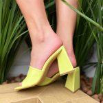 Tamanco Feminino Lemon de Salto Geométrico têndencia da Moda Nova Coleção Verão 2022 Loja Online MM Store Shoes (2)