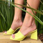 Tamanco Feminino Lemon de Salto Geométrico têndencia da Moda Nova Coleção Verão 2022 Loja Online MM Store Shoes (3)