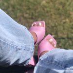 Tamanco Feminino Rosa de Salto Geométrico Triângulo Conforto Qualidade e Bom Preço Nova Coleção de Calçados Verão 2021-22 Loja Online Mm Store Shoes (5)