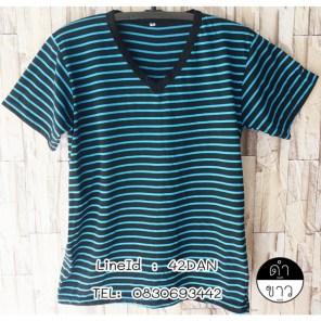 เสื้อ ลาย ขวาง ที่ กำลัง ฮิต สวยๆ คอกลม ถูกที่สุด ขายราคาไม่แพง t-Shirt striped lines