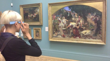 AR App using Google Glass at Manchester Art Gallery